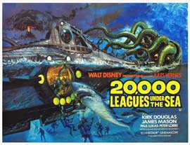 20,000 Leagues Under the Sea - 11 x 14 Movie Poster - Style B