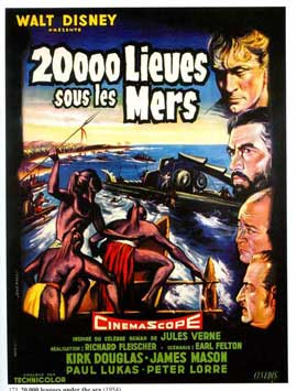 20,000 Leagues Under the Sea - 11 x 17 Movie Poster - French Style B
