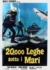 20,000 Leagues Under the Sea - 27 x 40 Movie Poster - Italian Style A