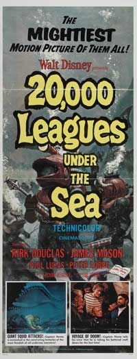 20,000 Leagues Under the Sea - 14 x 36 Movie Poster - Insert Style A