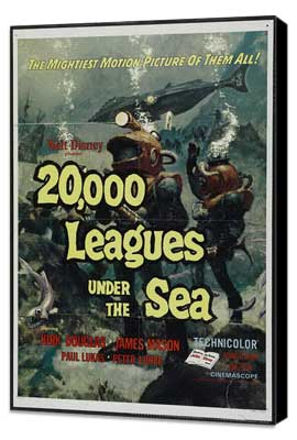 20,000 Leagues Under the Sea - 11 x 17 Movie Poster - Style B - Museum Wrapped Canvas