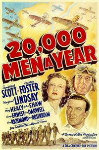 20,000 Men a Year - 11 x 17 Movie Poster - Style A