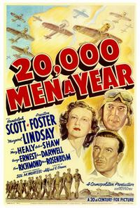 20,000 Men a Year - 27 x 40 Movie Poster - Style A