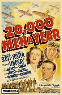 20,000 Men a Year - 43 x 62 Movie Poster - Bus Shelter Style A