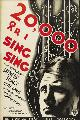 20,000 Years in Sing Sing - 27 x 40 Movie Poster - Swedish Style A