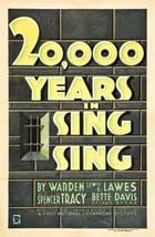 20,000 Years in Sing Sing - 11 x 17 Movie Poster - Style B