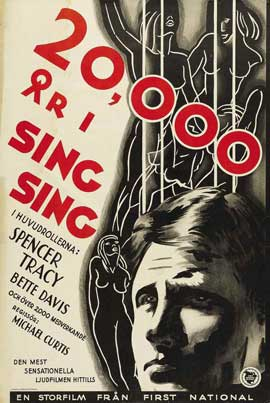 20,000 Years in Sing Sing - 11 x 17 Movie Poster - Swedish Style A