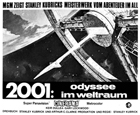 2001: A Space Odyssey - 11 x 17 Movie Poster - German Style C