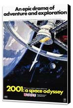 2001: A Space Odyssey - 11 x 17 Movie Poster - Style C - Museum Wrapped Canvas