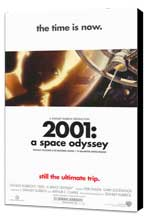 2001: A Space Odyssey - 27 x 40 Movie Poster - Style D - Museum Wrapped Canvas