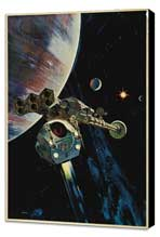 2001: A Space Odyssey - 27 x 40 Movie Poster - Style G - Museum Wrapped Canvas