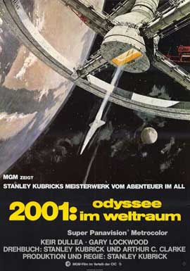 2001: A Space Odyssey - 11 x 17 Movie Poster - German Style A
