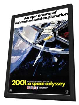 2001: A Space Odyssey - 11 x 17 Movie Poster - Style C - in Deluxe Wood Frame