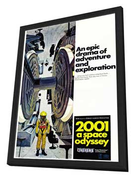 2001: A Space Odyssey - 27 x 40 Movie Poster - Style E - in Deluxe Wood Frame
