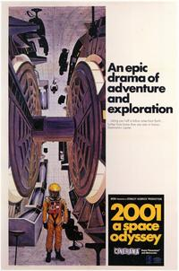 2001: A Space Odyssey - 11 x 17 Movie Poster - Style E - Museum Wrapped Canvas