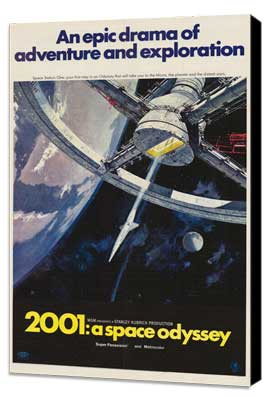 2001: A Space Odyssey - 11 x 17 Movie Poster - Style I - Museum Wrapped Canvas