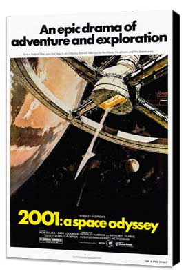 2001: A Space Odyssey - 27 x 40 Movie Poster - Style B - Museum Wrapped Canvas
