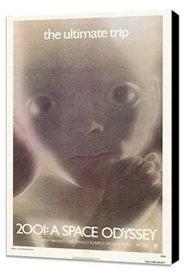 2001: A Space Odyssey - 27 x 40 Movie Poster - Style C - Museum Wrapped Canvas