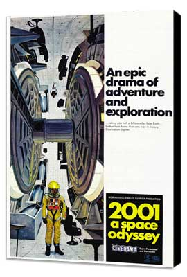 2001: A Space Odyssey - 27 x 40 Movie Poster - Style E - Museum Wrapped Canvas