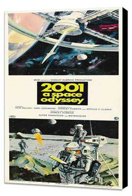 2001: A Space Odyssey - 14 x 36 Movie Poster - Insert Style A - Museum Wrapped Canvas