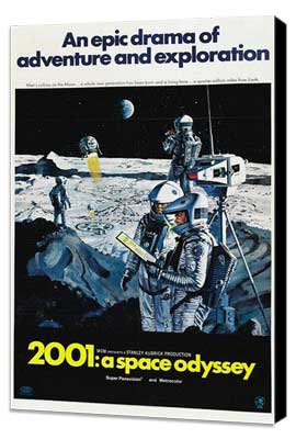 2001: A Space Odyssey - 27 x 40 Movie Poster - Style J - Museum Wrapped Canvas