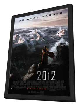 2012 - 27 x 40 Movie Poster - Style B - in Deluxe Wood Frame