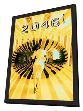 2046 - 27 x 40 Movie Poster - Chinese Style A - in Deluxe Wood Frame