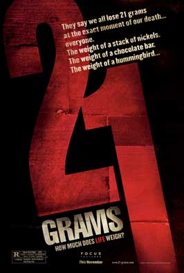 21 Grams - 11 x 17 Movie Poster - Style E