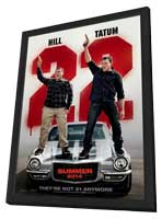 22 Jump Street - 11 x 17 Movie Poster - Style B - in Deluxe Wood Frame
