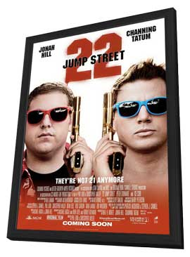 22 Jump Street - 27 x 40 Movie Poster - Style A - in Deluxe Wood Frame