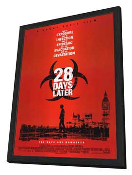 28 Days Later - 27 x 40 Movie Poster - Style A - in Deluxe Wood Frame