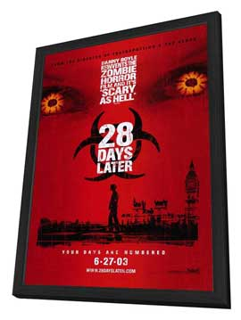 28 Days Later - 27 x 40 Movie Poster - Style B - in Deluxe Wood Frame