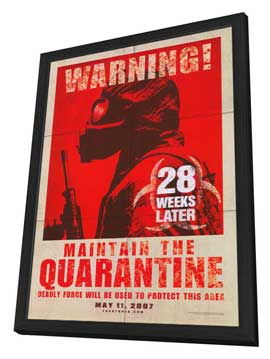 28 Weeks Later - 27 x 40 Movie Poster - Style B - in Deluxe Wood Frame