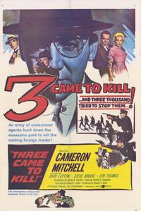 3 Came to Kill - 27 x 40 Movie Poster - Style A