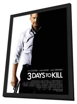 3 Days to Kill - 11 x 17 Movie Poster - Style A - in Deluxe Wood Frame