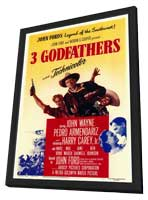 3 Godfathers - 11 x 17 Movie Poster - Style A - in Deluxe Wood Frame