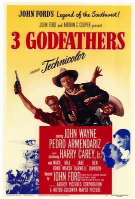 3 Godfathers - 11 x 17 Movie Poster - Style A