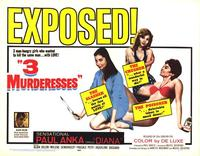 3 Murderesses - 22 x 28 Movie Poster - Half Sheet Style A