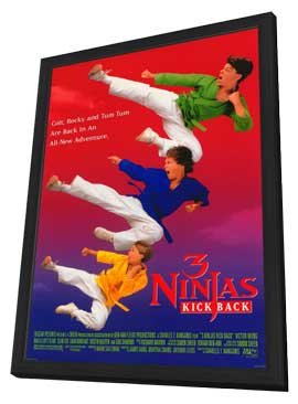 3 Ninjas Kick Back - 11 x 17 Movie Poster - Style A - in Deluxe Wood Frame