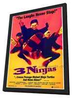 3 Ninjas - 11 x 17 Movie Poster - Style A - in Deluxe Wood Frame
