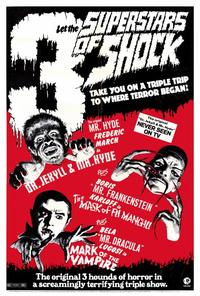 3 Superstars of Shock - 27 x 40 Movie Poster - Style A