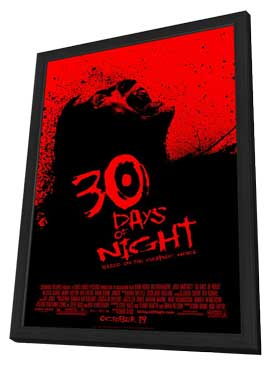 30 Days of Night - 11 x 17 Movie Poster - Style B - in Deluxe Wood Frame