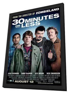 30 Minutes or Less - 11 x 17 Movie Poster - Style A - in Deluxe Wood Frame