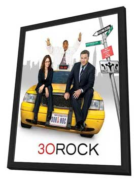 30 Rock - 11 x 14 TV Poster - Style C - in Deluxe Wood Frame