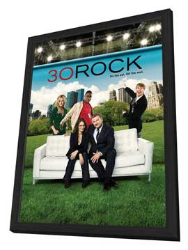 30 Rock - 11 x 17 TV Poster - Style F - in Deluxe Wood Frame