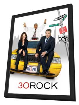 30 Rock - 27 x 40 TV Poster - Style B - in Deluxe Wood Frame
