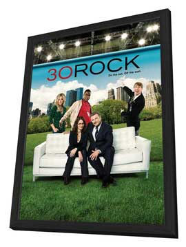 30 Rock - 27 x 40 TV Poster - Style C - in Deluxe Wood Frame