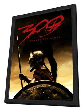 300 - 27 x 40 Movie Poster - Style E - in Deluxe Wood Frame