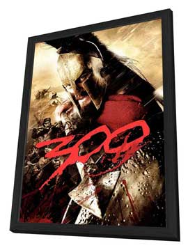 300 - 27 x 40 Movie Poster - Style L - in Deluxe Wood Frame