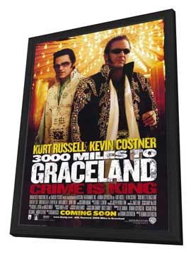3000 Miles to Graceland - 27 x 40 Movie Poster - Style A - in Deluxe Wood Frame